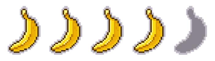 Bananas. Peli o Manta. 4 videojuegos