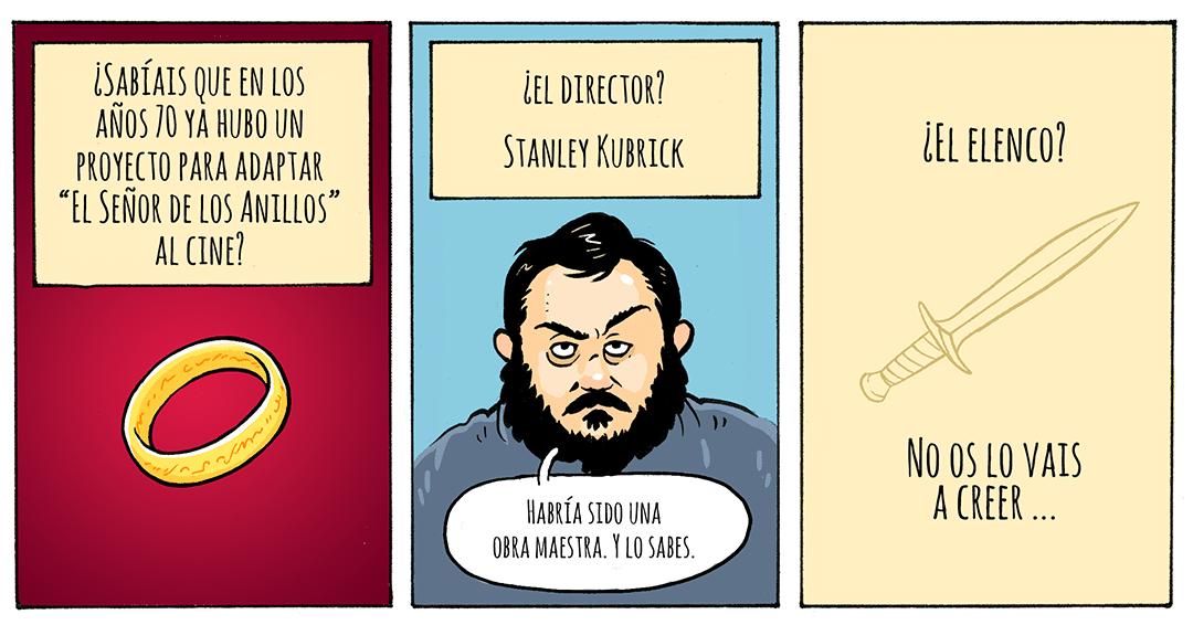 Kubrick y el anillo único. Peli o Manta. Viñeta 1