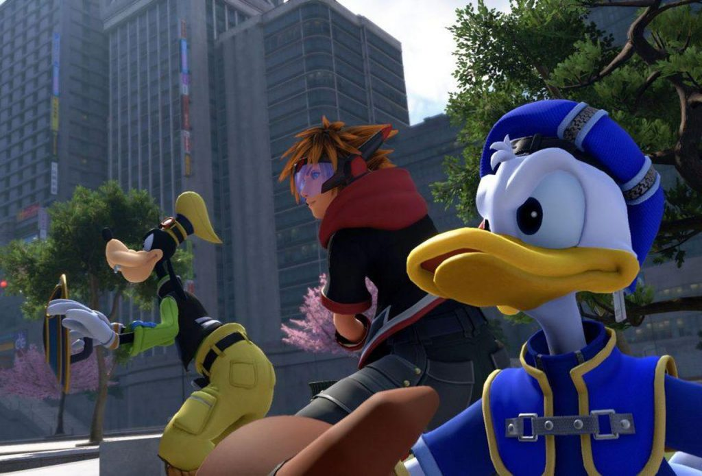 Peli o manta. review kingdom hearts 3. Sora, Donald y Goofy