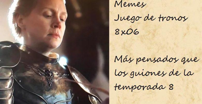 Memes juego de tronos 8x06. Peli o Manta. Brienne y los memes