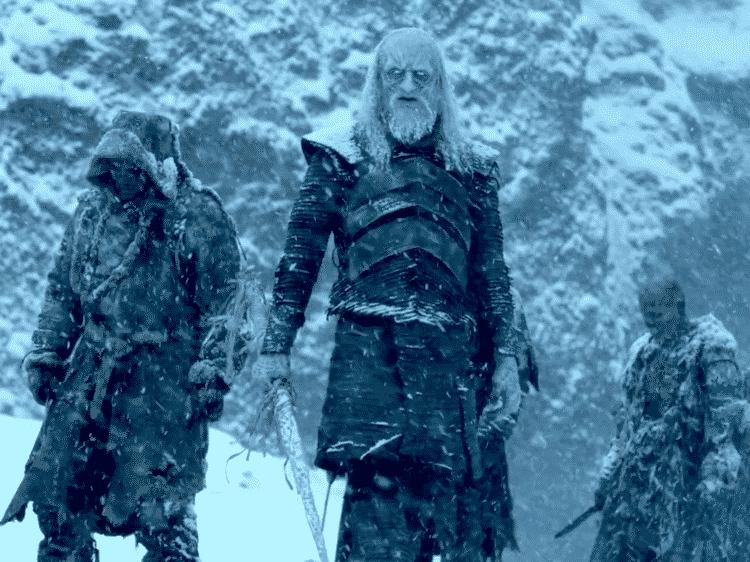 Personajes irrelevantes Juego de tronos. Peli o Manta. Caminante blanco