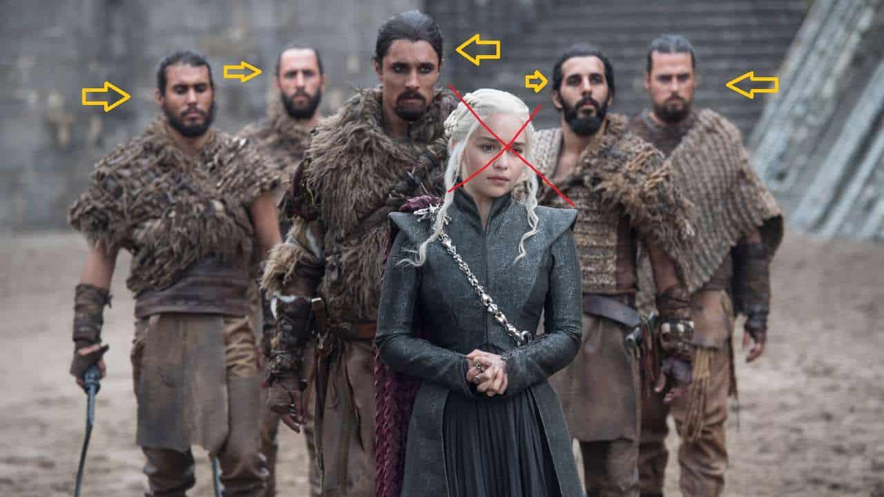 Personajes irrelevantes Juego de tronos. Peli o Manta. Cualquier Dothraki