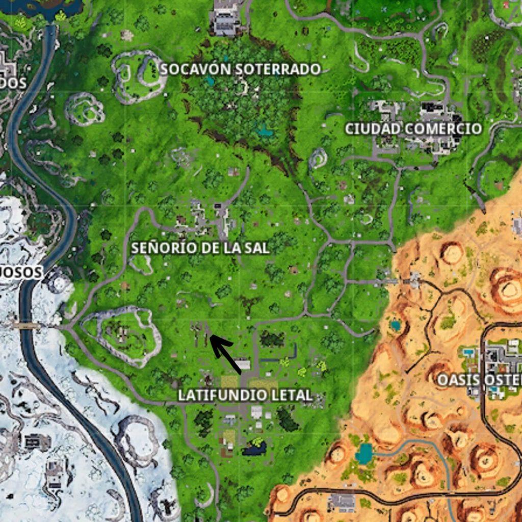 Semana 10 temporada 8. Peli o Manta. Busca la señal del mapa del tesoro que hay en Chiringuito Chatarra