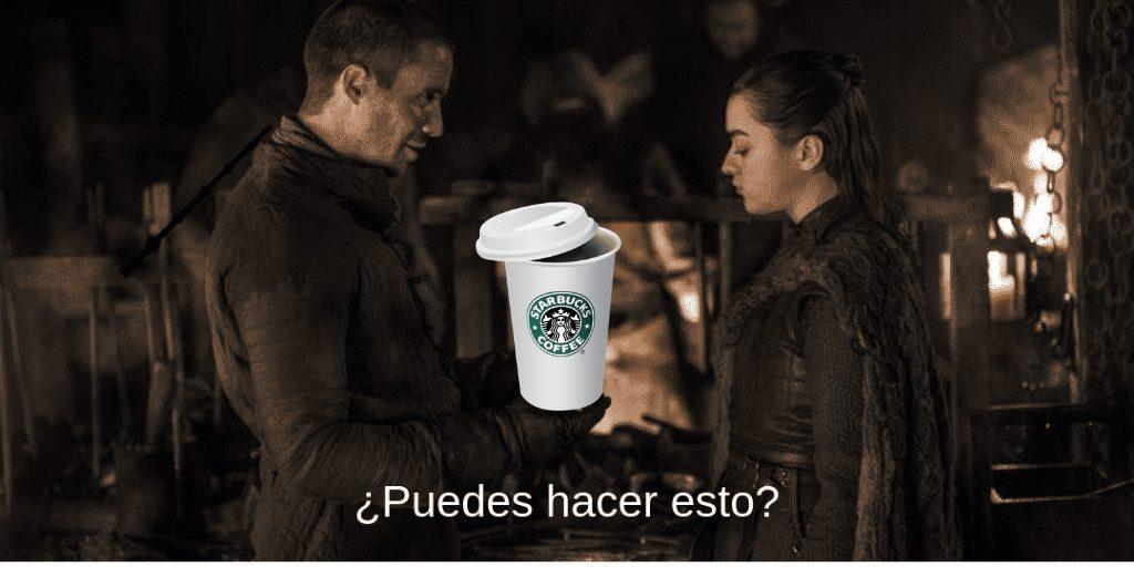 Starbucks y el trono de hierro. Peli o manta. Arya Stark