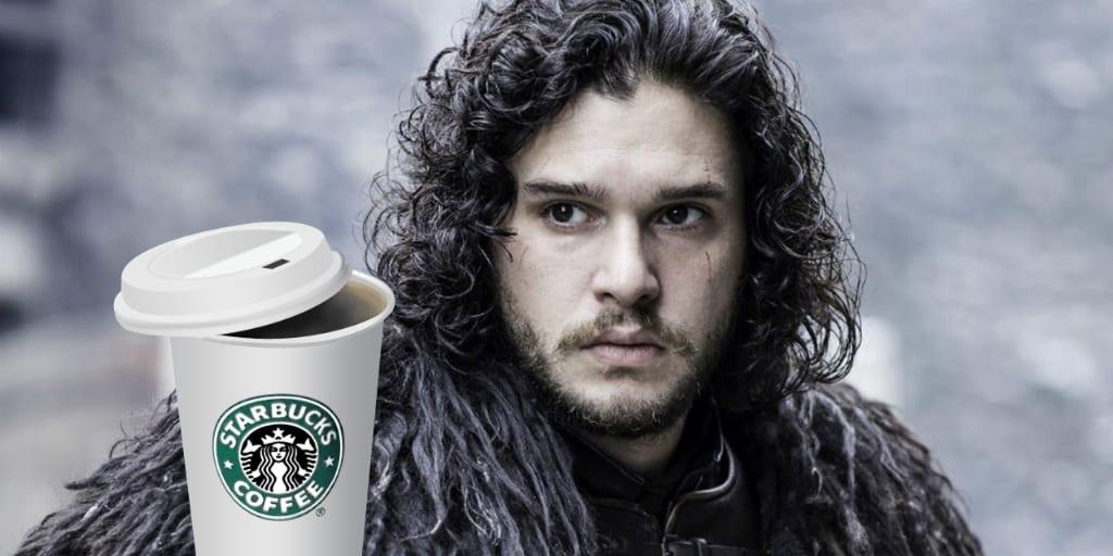 Starbucks y el trono de hierro. Peli o manta. Jon Snow