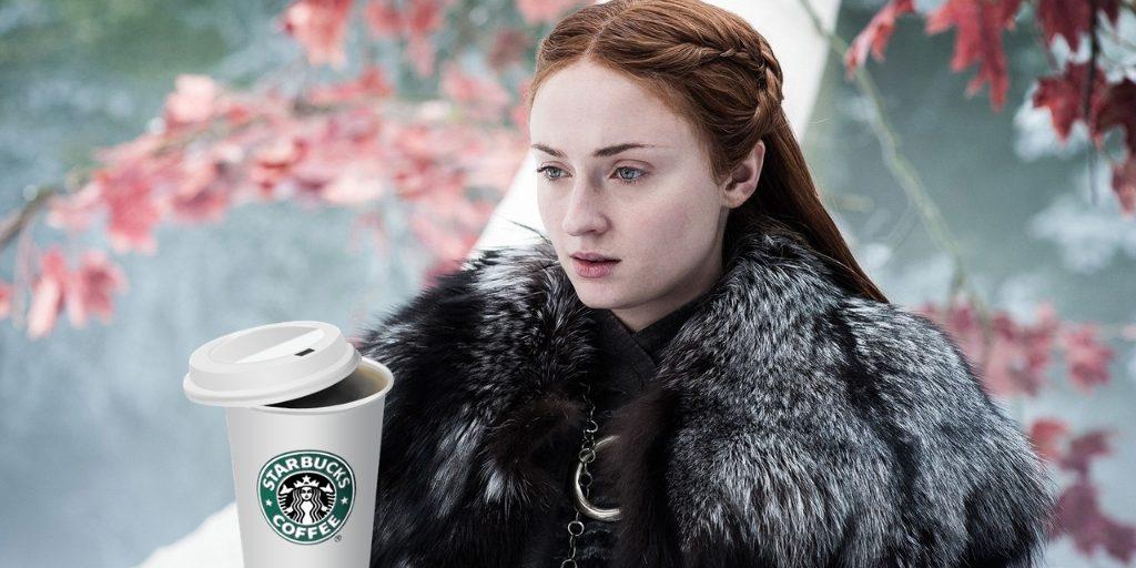 Starbucks y el trono de hierro. Peli o manta. Sansa Stark