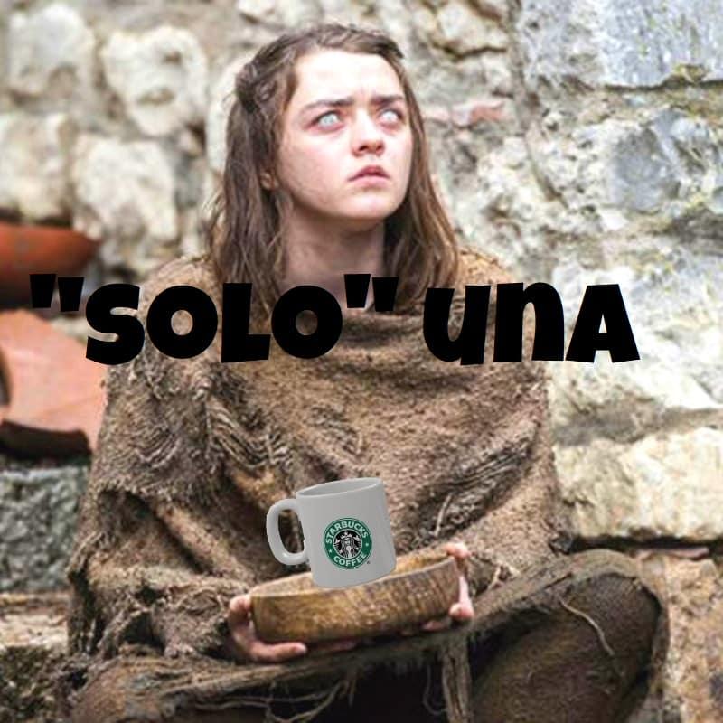 Starbucks y el trono de hierro. Peli o manta. Taza robada 1