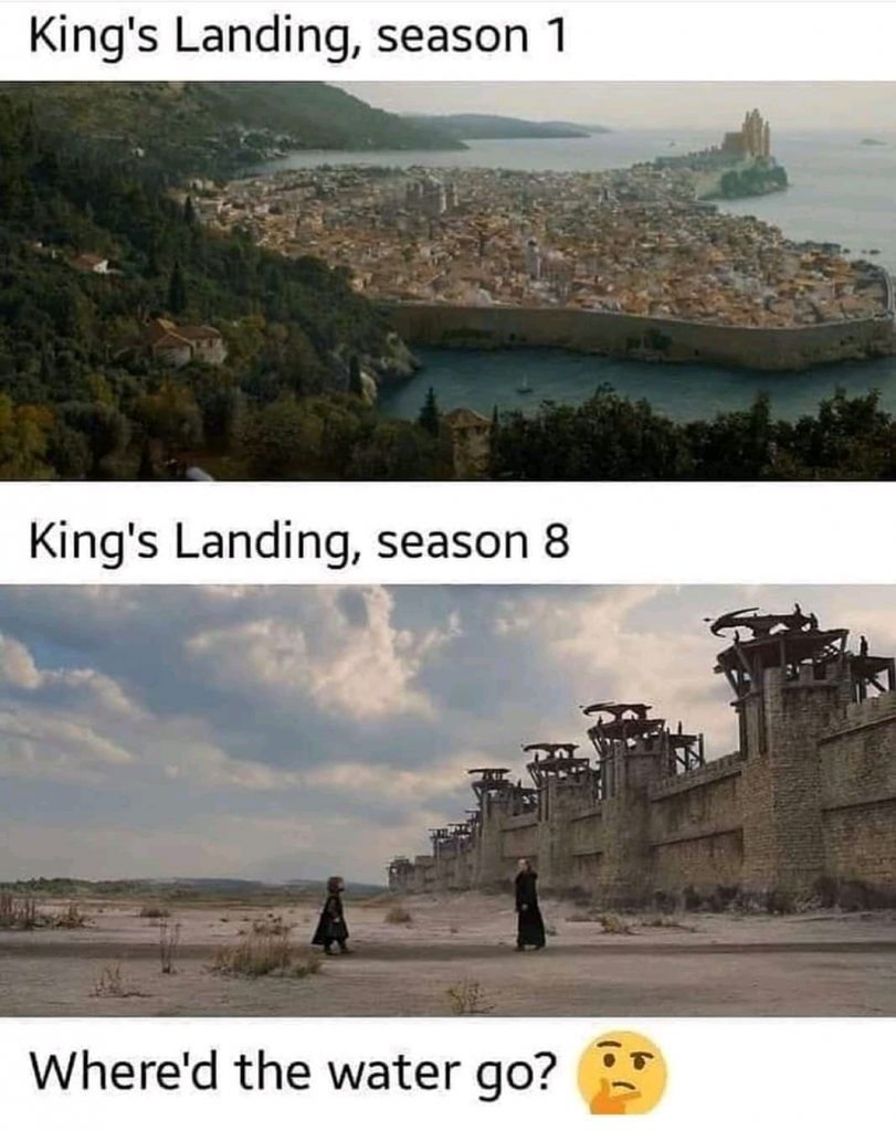 peli o manta. errores juego de tronos. desembarco del rey