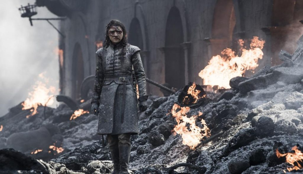 peli o manta. resumen juego de tronos 8x05. Arya Stark
