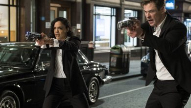 peli o manta. men in black international. tessa thompson chris hemsworth