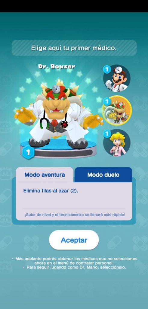 Peli o Manta. Dr Mario World. 5