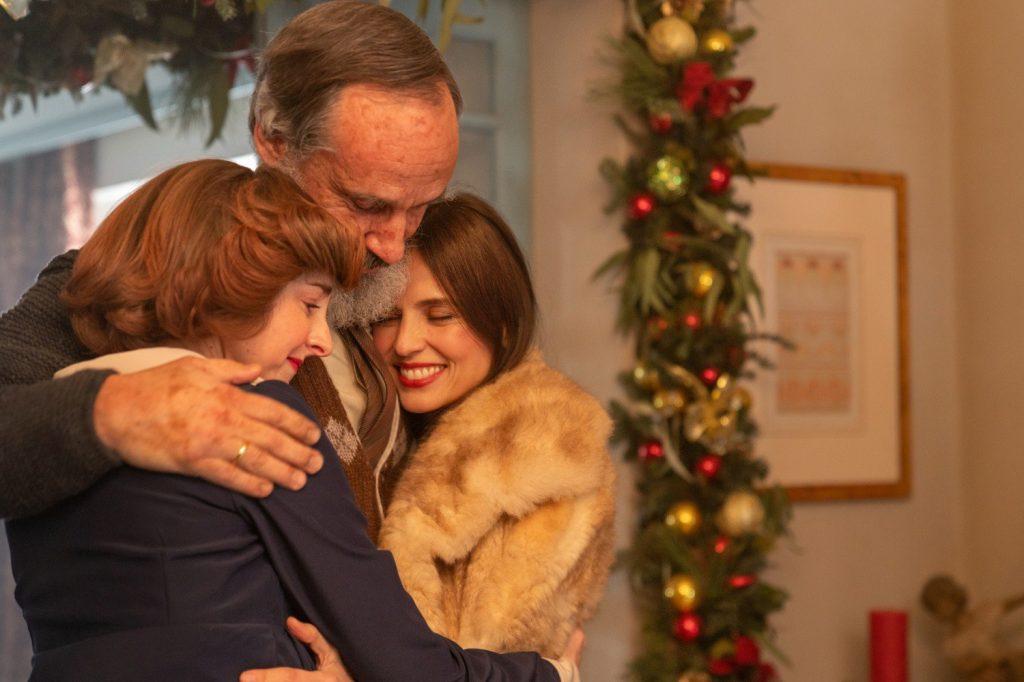 Peli o manta. Días de Navidad. Padre y dos hijas