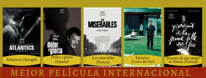peli o manta. ganadores de los Oscars 2020. internacional