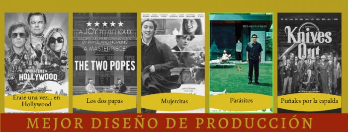 peli o manta. ganadores de los Oscars 2020. producción