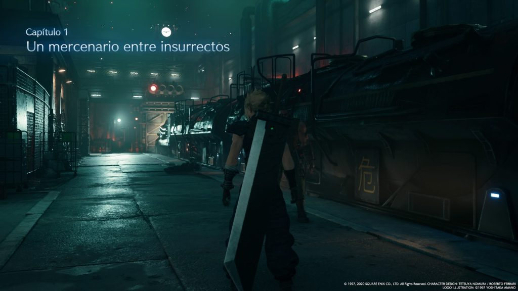 Empieza FFVII y empieza la review Final Fantasy VII Remake, con CLoud junto a un tren