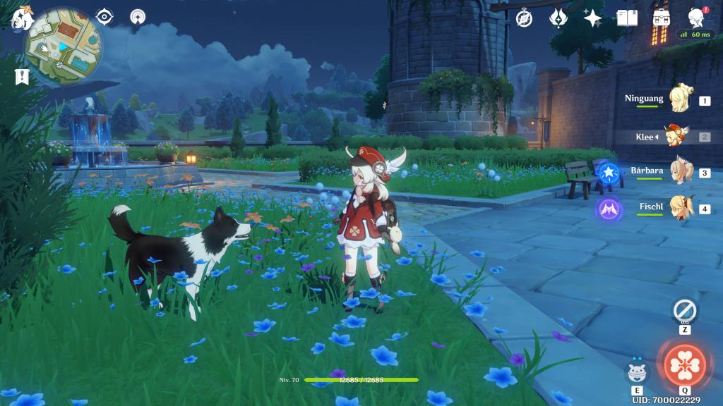 Por desgracia, no podemos acariciar al perro.  Review Genshin Impact