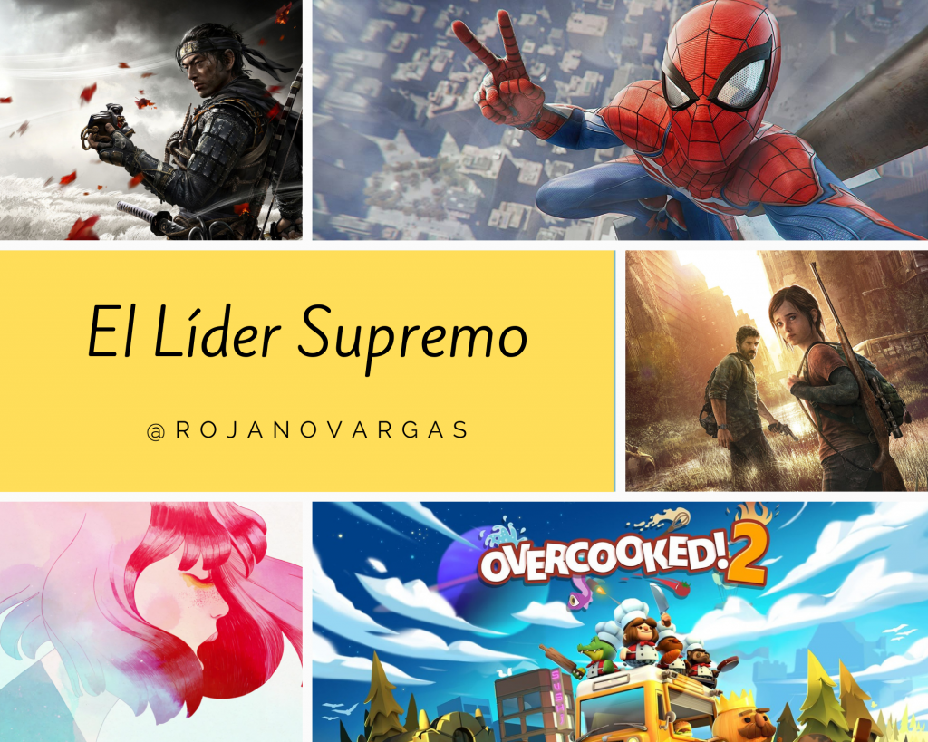 Ghost of Tsushima / Marvel's Spider-Man / The Last of Us / Gris / Overcooked! 2