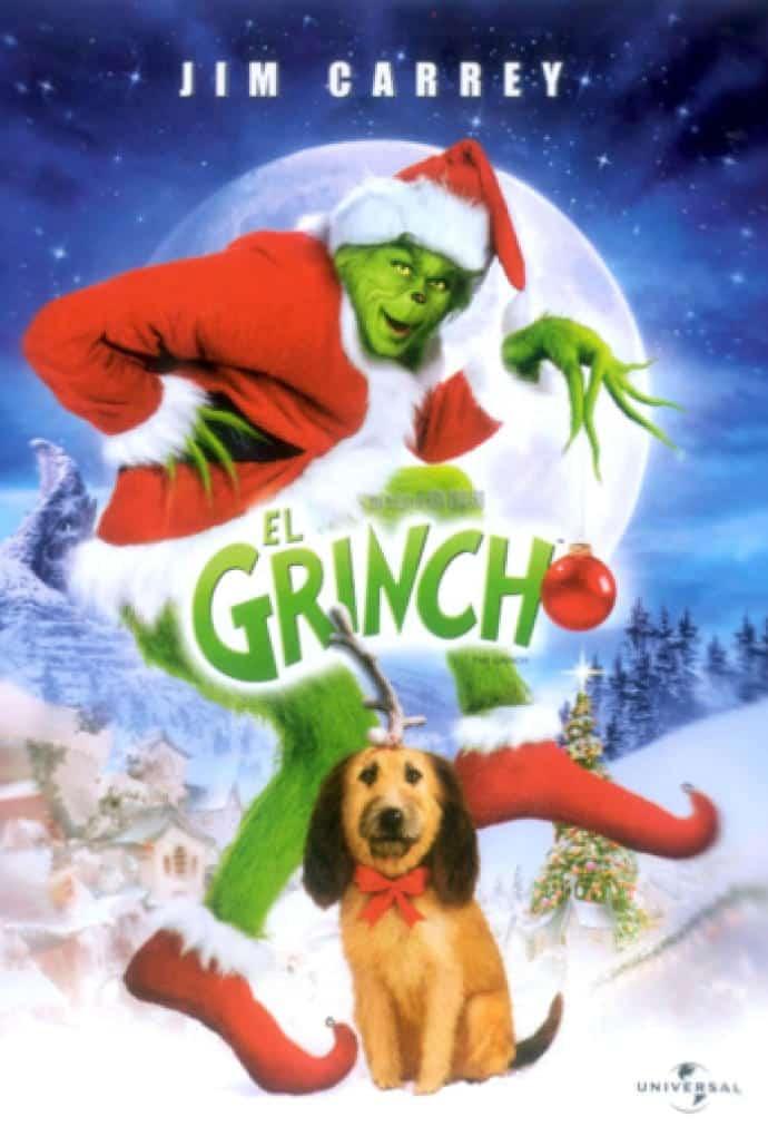 Puede verse el cartel de la película El Grinch. Una de las películas elegidas en esta Recopilación de películas navideñas.