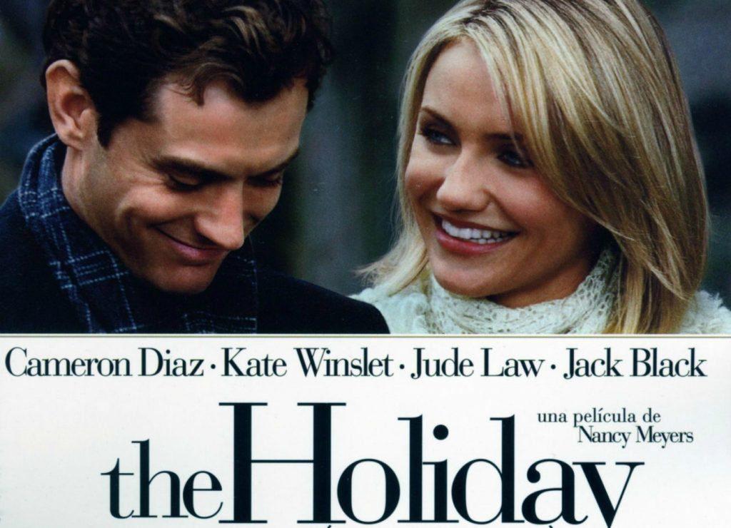 Puede verse el cartel de la película The Holiday.