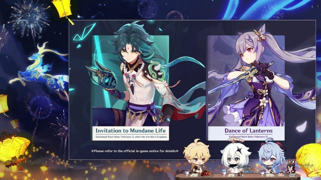 Xiao y Keqling serán los protagonistas de los nuevos banners temáticos de Genshin Impact: El festival de las linternas