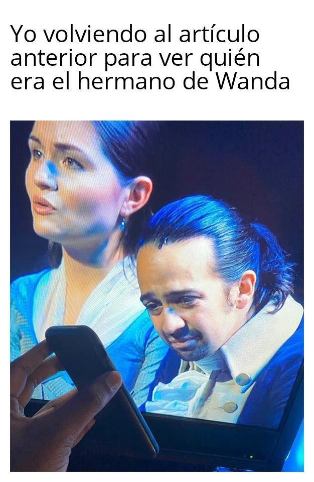 Memes WandaVision 3. Peli o Manta. El hermano de Wanda