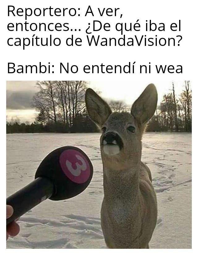 Memes WandaVision. Peli o Manta. No entendí ni wea