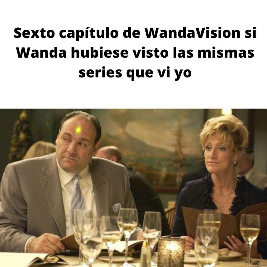 Memes WandaVision capítulo 8. Capítulos de Wandavision si se basaran en las series que vi yo. Los Soprano