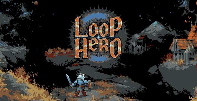 review de Loop Hero con un señor ahí y tal haciendo de portada tope pixel