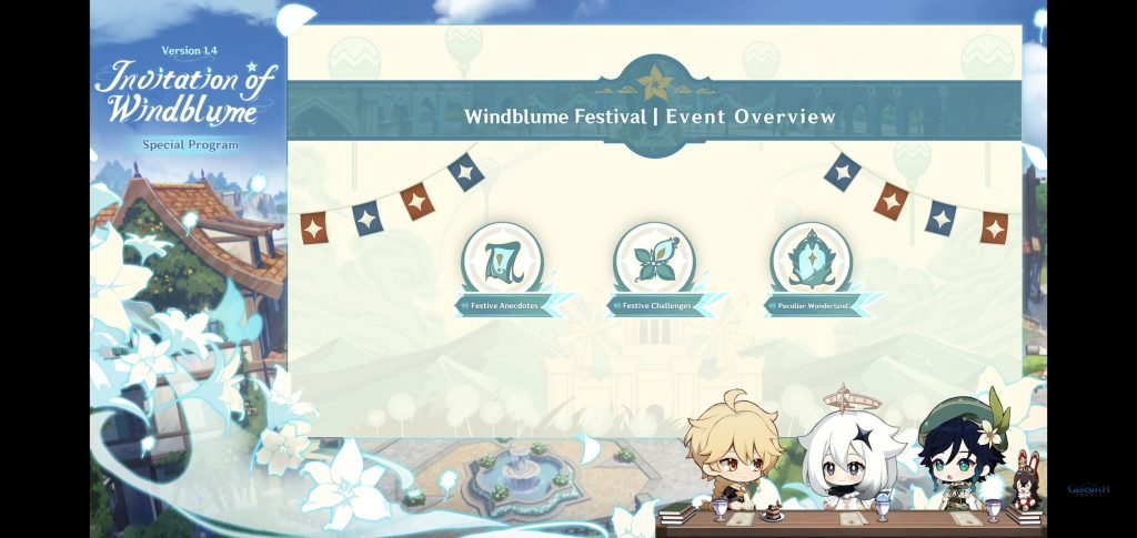 """El """"roadmap"""" del Festival de las Flores del Viento que comenzará con Genshin Impact 1.4"""