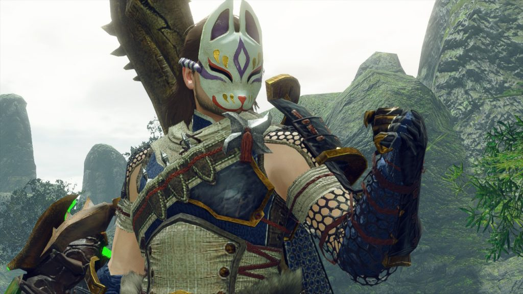 Nuestro aguerrido cazador preparándose para darlo todo en la Review de Monster Hunter Rise